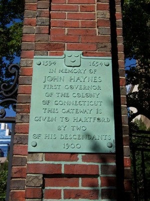 John Haynes Plaques at the Ancient Burying Ground